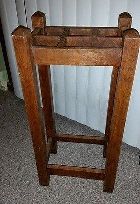 Antique Arts & Crafts Mission Wood Oak Umbrella Stand