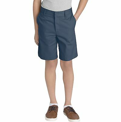 Dickies Boys Navy Shorts Flat Front School Uniform Sizes 4 to 20