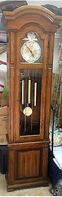Beautiful Ridgeway Weight Driven Grandfather Clock Westminster Chime