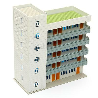 N Scale 1/144 Outland Model 5 Story Plastic White Dormitory Building Scene New