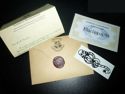 Harry Potter Standard School Acceptance Letter London To Hogwarts Ticket +Tattoo