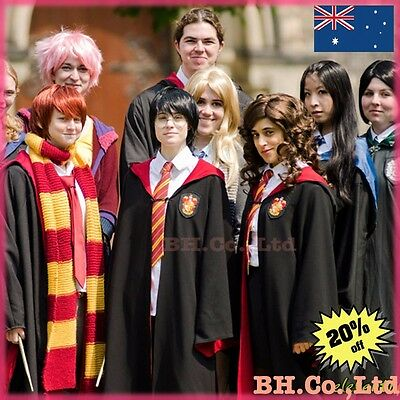 Unisex Harry Potter Robe &Tie Gryffindor/Slytherin Cosplay Costume Cloak AU SHIP