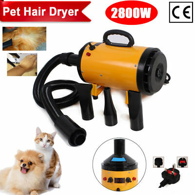 2800W Lowest Noise Dog Hair Dryer Heater Pet Grooming Hairdryer Blaster Blower