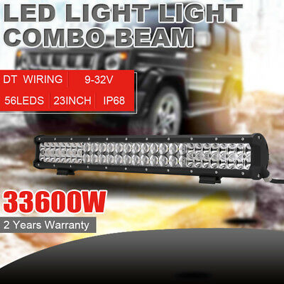 7inch 1350w LED Driving Lights Cree Red Round Spotlights BAR Offroad HID ATV SUV