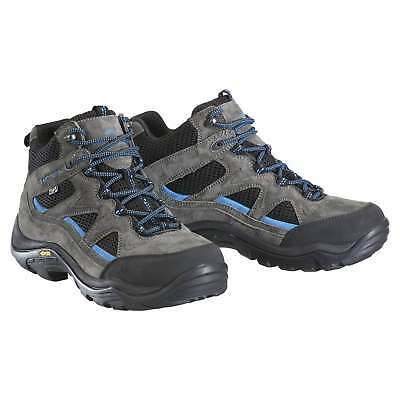 Kathmandu Terania Mens Leather Waterproof Mid Hiking Trail Walking Boots Grey