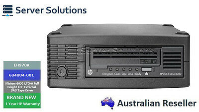 Eh970A - Hpe Storeever Lto-6 Ultrium 6250 External Tape Drive (684882-001)