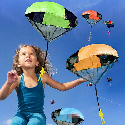 Outdoor Hand Throw Parachute Flying Umbrella Toy Kids Educational Toys Funny