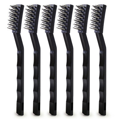 17cm 6x Steel Wire Brush Rust Remover Sparks Brush Cleaning Metal Polishing Tool