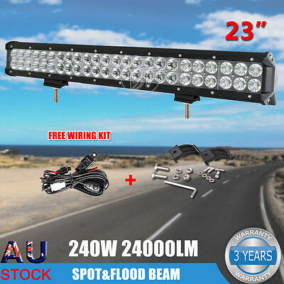 """23"""" Inch 240W Philips LED Light Bar Spot Flood Combo Work Driving Off Road 4WD"""