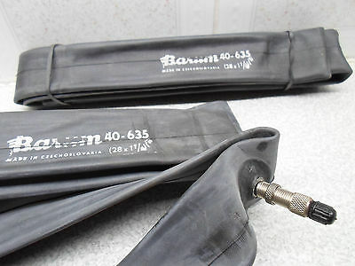 "A Pair Nos Raleigh Type Bicycle Inner Tubes Barum 28"" X 1 1/2"" Woods Valve  New"