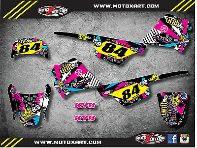 Full  Custom Graphic  Kit RUSH STYLE Yamaha pw pee wee 50 decals stickers