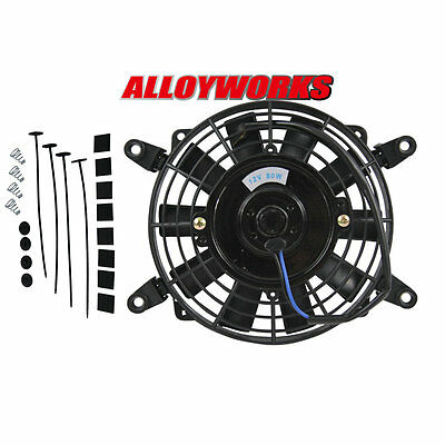 """7"""" inch 12V volt Electric Cooling Fan Thermo Fan +Mounting kits"""
