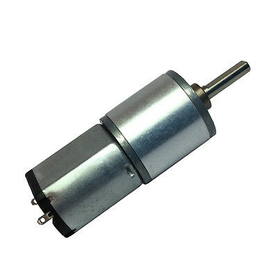 DC 12V 20RPM Small Redcer Geared Motor Low Speed Diameter 16mm 3mm Shaft