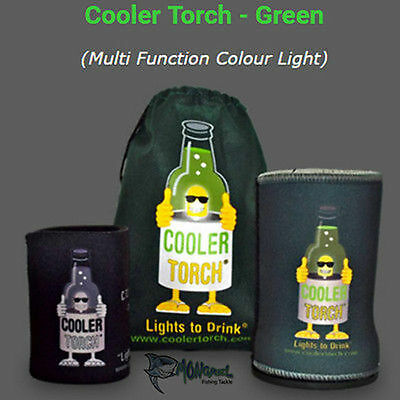 NEW 1 x GREEN Cooler Torch Stubby Cooler Torch's-Party's Wedding Fishing Camping