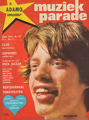 MAGAZINE MUZIEK PARADE 1965 nr. 99 - MICK JAGGER/PRETTY THINGS/SUPREMES/BEATLES