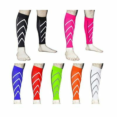 Pair Calf Support Compression Socks Leg Sleeve For Sports Running Exercise