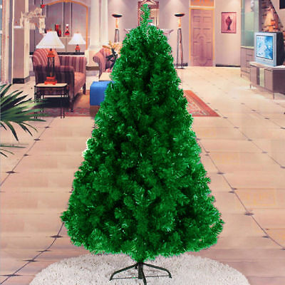 Artificial Christmas Tree Green with Metal Stand Xmas Decorations 5ft-6ft-7ft