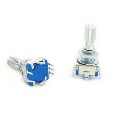 2PCS EC11 Rotary Encoder Audio Digital Potentiometer 5P with Switch 20mm Handle