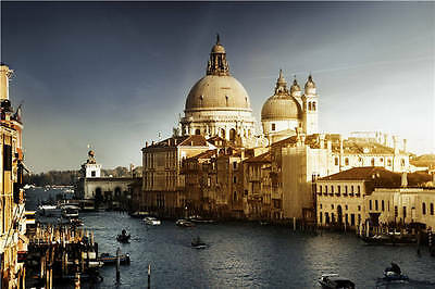 Grand Canal Venice Italy Gondola 3D Full Wall Mural Photo Wallpaper Print Decal
