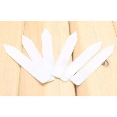 """100PCS 4"""" White Plastic Plant Herb Seed Labels Marker Garden Stake Tags"""