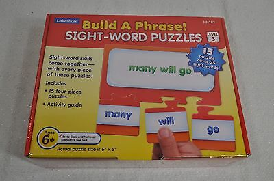 Lakeshore Learning Sight Word Puzzles Build a Phrase Level 3 Reading Teachers