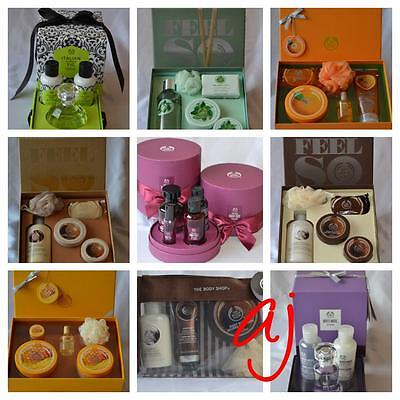 The Body Shop Gift Box Collection Shower Gel Soap Body Butter Scrub Musk