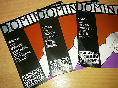 THOMASTIK INFELD VIENNA, DOMINANT VIOLA STRINGS, c, d and g, FREE DELIVERY