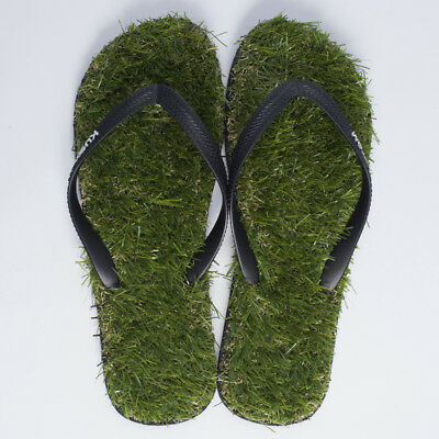 Kustom Mens Keep On The Grass Thongs in Green