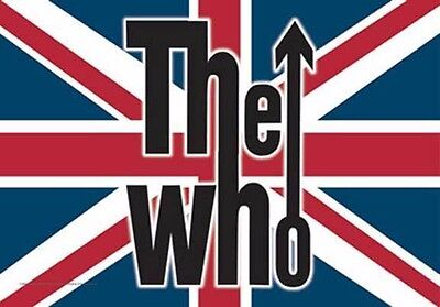 The Who  Uk Music Flags Wall Hanger Made Italy Licensed Silk Screened  L862
