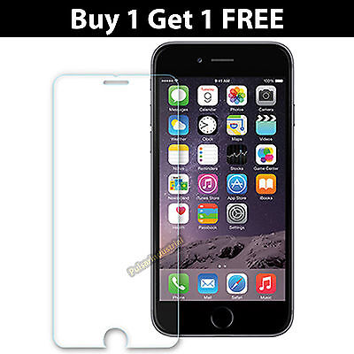 iPhone 6 & 6S Screen Protector For Apple Genuine 9H Tempered Glass Film UK Stock