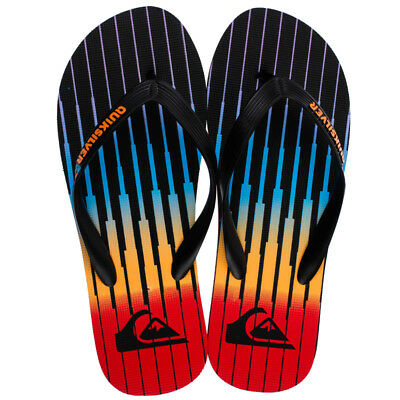 Quiksilver Mens Molokai Equalizer Thongs in Black