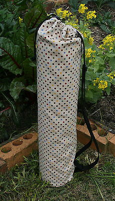 Colourful Dot Yoga/Pilates Mat Bag with Adjustable Carry Strap Fits Mat  6mm