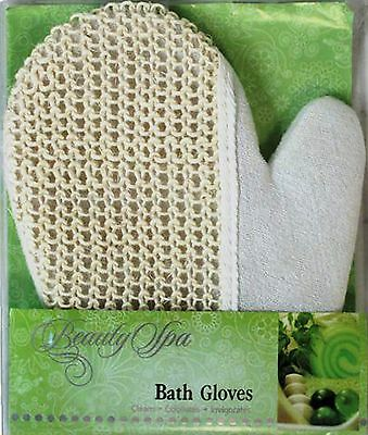 Exfoliating Loofah & Towel Mitt Glove Double Sided Bath Spa Ladies Mens Handy