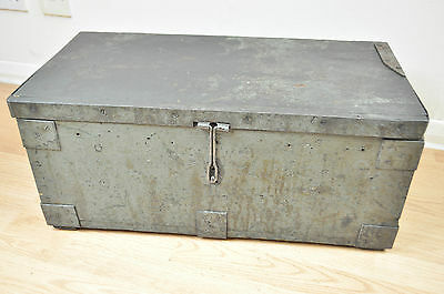 Vintage Military Tool Chest Storage Box Trunk