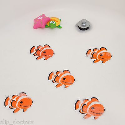 Bath Tub Shower Stickers - FISH Nemo Decals Treads Non Slip Applique Anti Skid
