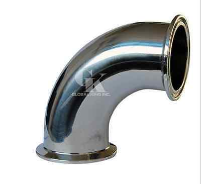 """3"""" Stainless Steel 304 Tri Clamp OD 91mm 90° Elbow Pipe Fitting"""