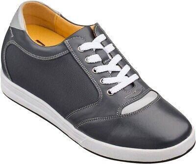 ef5ef743742 TOTO A5327 - 3.2 Inches Elevator Height Increasing Gray Classic Casual Shoes