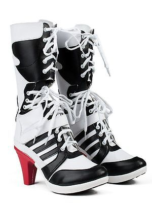 Harley Quinn Suicide Squad Boots Shoes Womens Ladies Girl Costume 4-12 SHIPS NOW