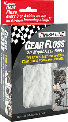 NEW Finish Line Gear Floss Microfiber Cleaning Rope