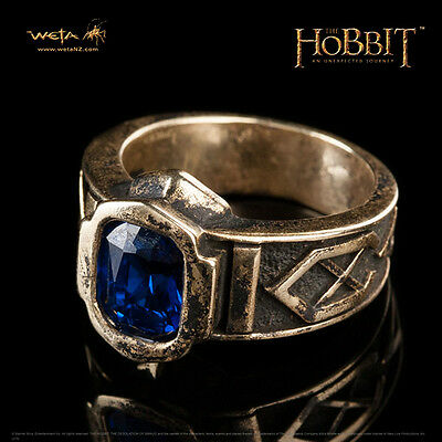 WETA The Hobbit The Ring Of Power Of King Thror Prop Replica SZ 8.25 Q NEW