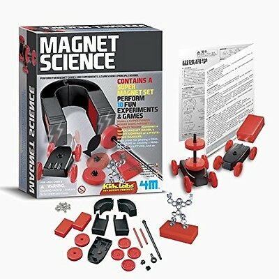 Magnet Games Experiment Kit Set Science Kids Gift 4M Kidz Labs New Free Shipping