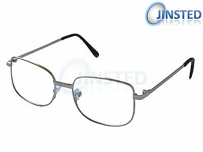 4874d0bf357 Reading Glasses Specs Spectacles Unisex Silver Frame Long Sighted RG005