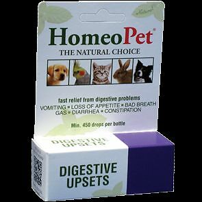 HomeoPet DIGESTIVE UPSETS Homeopathic Diarrhea Discomfort Relief Dog Cat 15 ml
