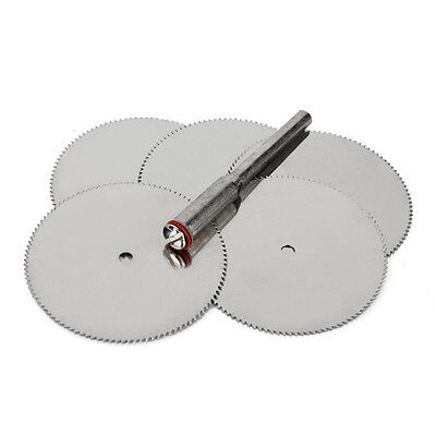 5Pcs 32mm Stainless Steel Slice Metal Cutting Disc Mandrel for Dremel Rotary