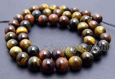 SALE small 8mm Multicolor natural Round tiger's-eye gemstone Beads strand -lo698