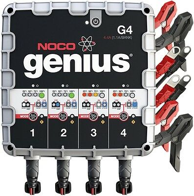 NOCO Genius Generation 4 4-Bank Battery Charger G4