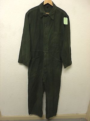 US Army  OG107 Cotton Sateen Coveralls Size: Large X - Short  (A2429)