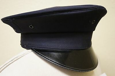 Police Round Hat - Blue - Lancaster Brand 100% WOOL Size 7 (A978)