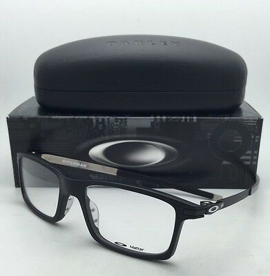 clear frame oakley sunglasses tym3  New OAKLEY Eyeglasses PITCHMAN OX 8050-0153 53-18 Satin Black Frames w/