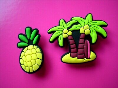 Shoe Pin Charm Fit Jibbitz WristBand Pineapple Palm Tree Compatible W/ Croc Hole